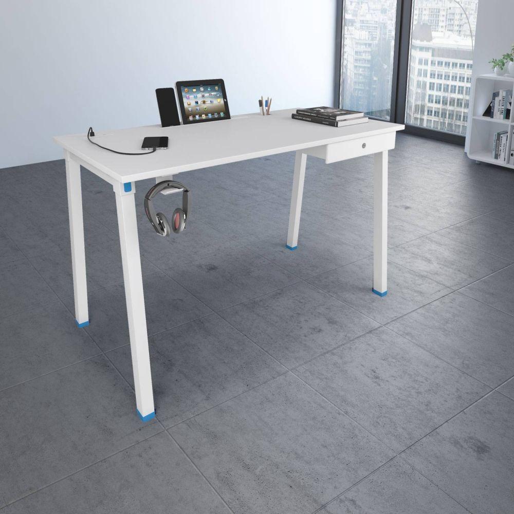 Milan Workstation in White Finish