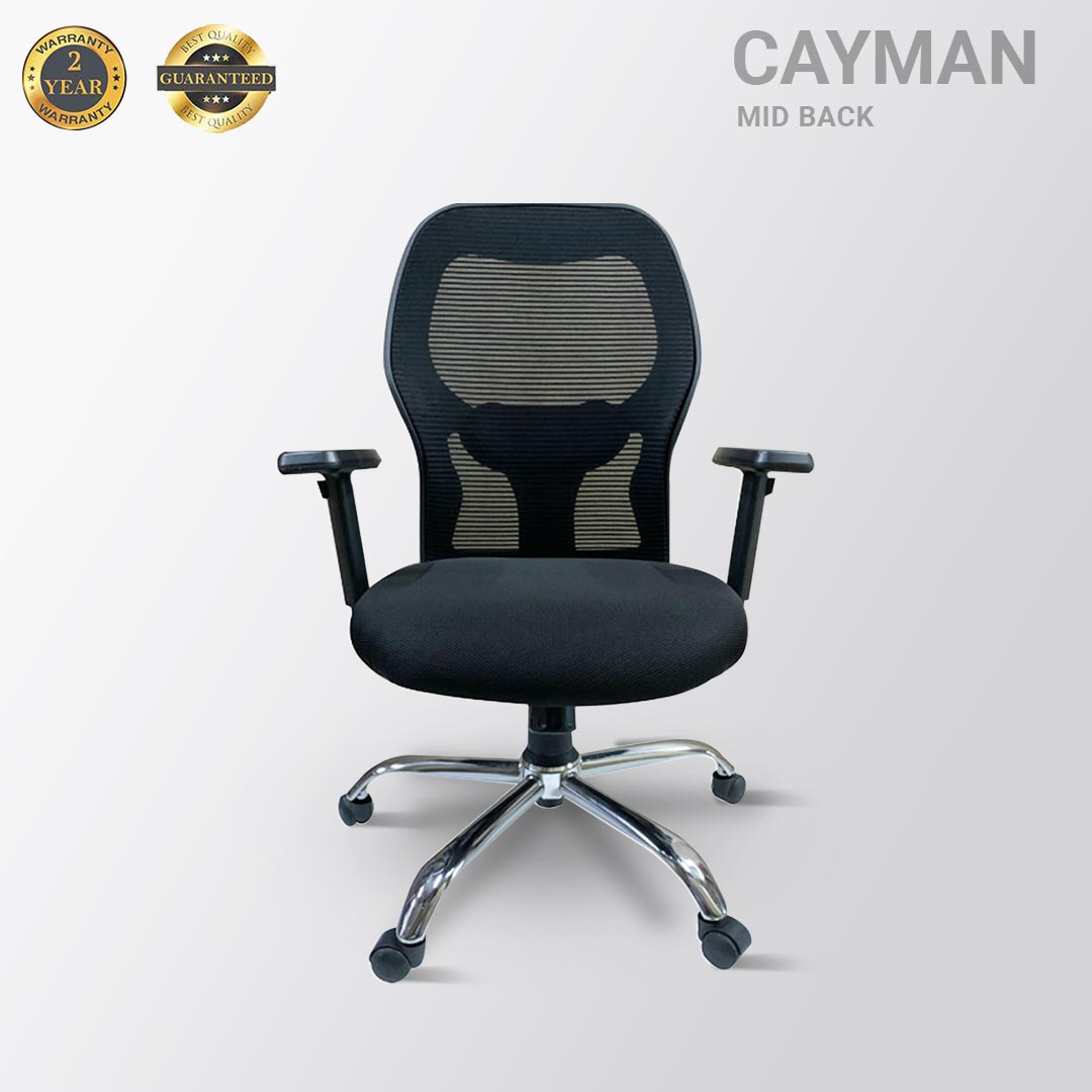 CAYMAN MID BACK MESH BLACK