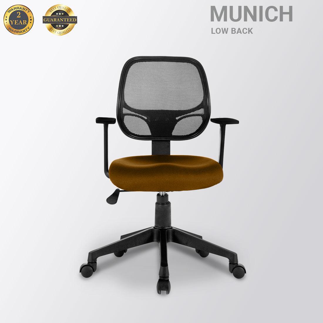 MUNICH LOW BACK MESH MUSTARD