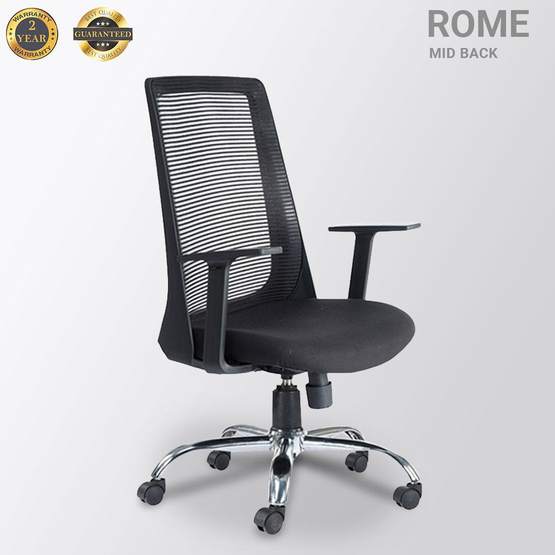 ROME MID BACK MESH BLACK